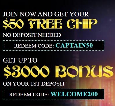 Captain Jack Casino No Deposit Bonus Coupon Codes